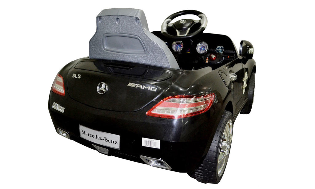 kids ride power car toy mercedes benz led lights mp3 electric battery citizensave