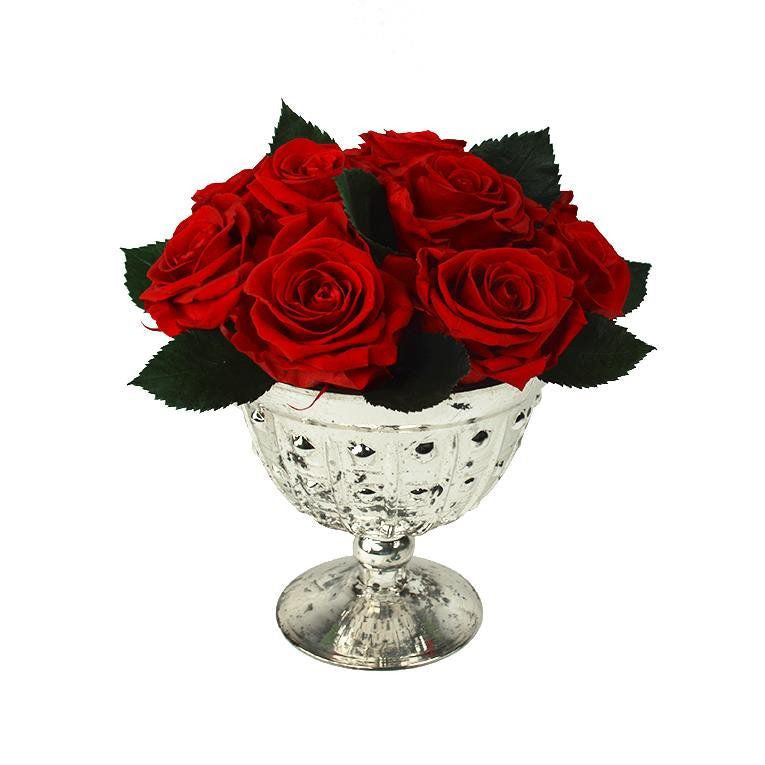 Glass Compote - 10 rose