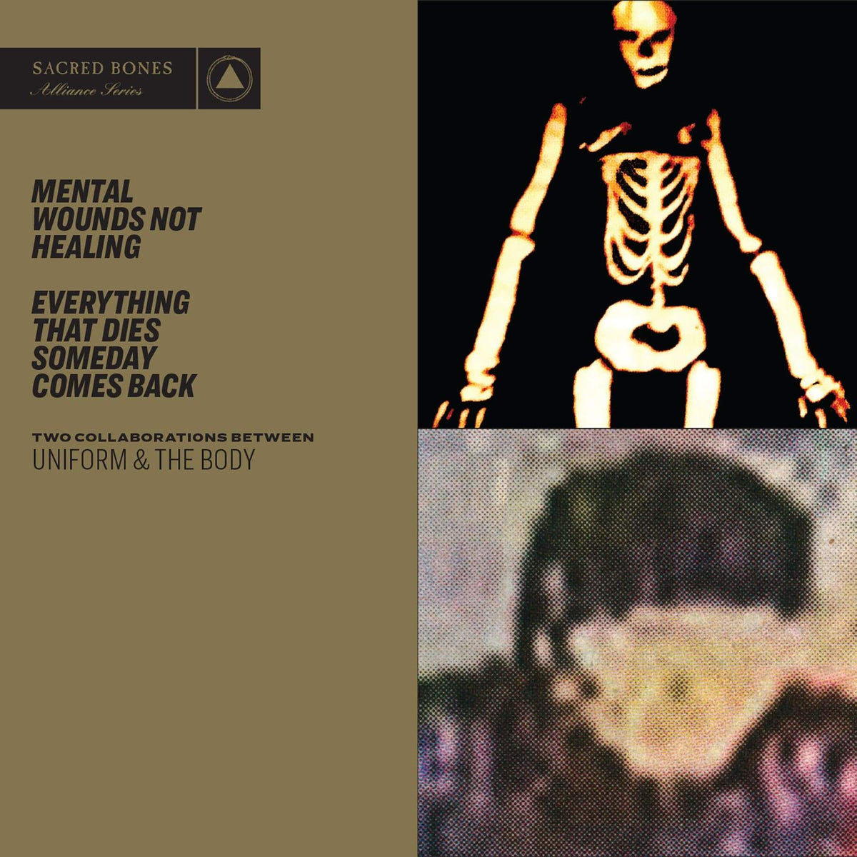 "Sacred Bones Vinyl Uniform & The Body ""Mental Wounds Not Healing / Everything That Dies Someday Comes Back"" CD"