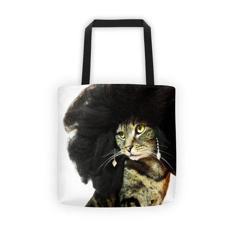 Glamorous Tote Bag with Kitty Drag Queen