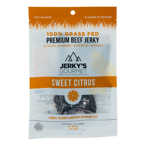 Sweet Citrus Grass Fed Beef Jerky