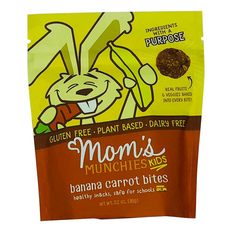 Moms Munchies Banana Carrot Kids Bites Front