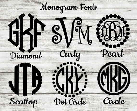 Bow Monogram Decal-Lettermix Studio