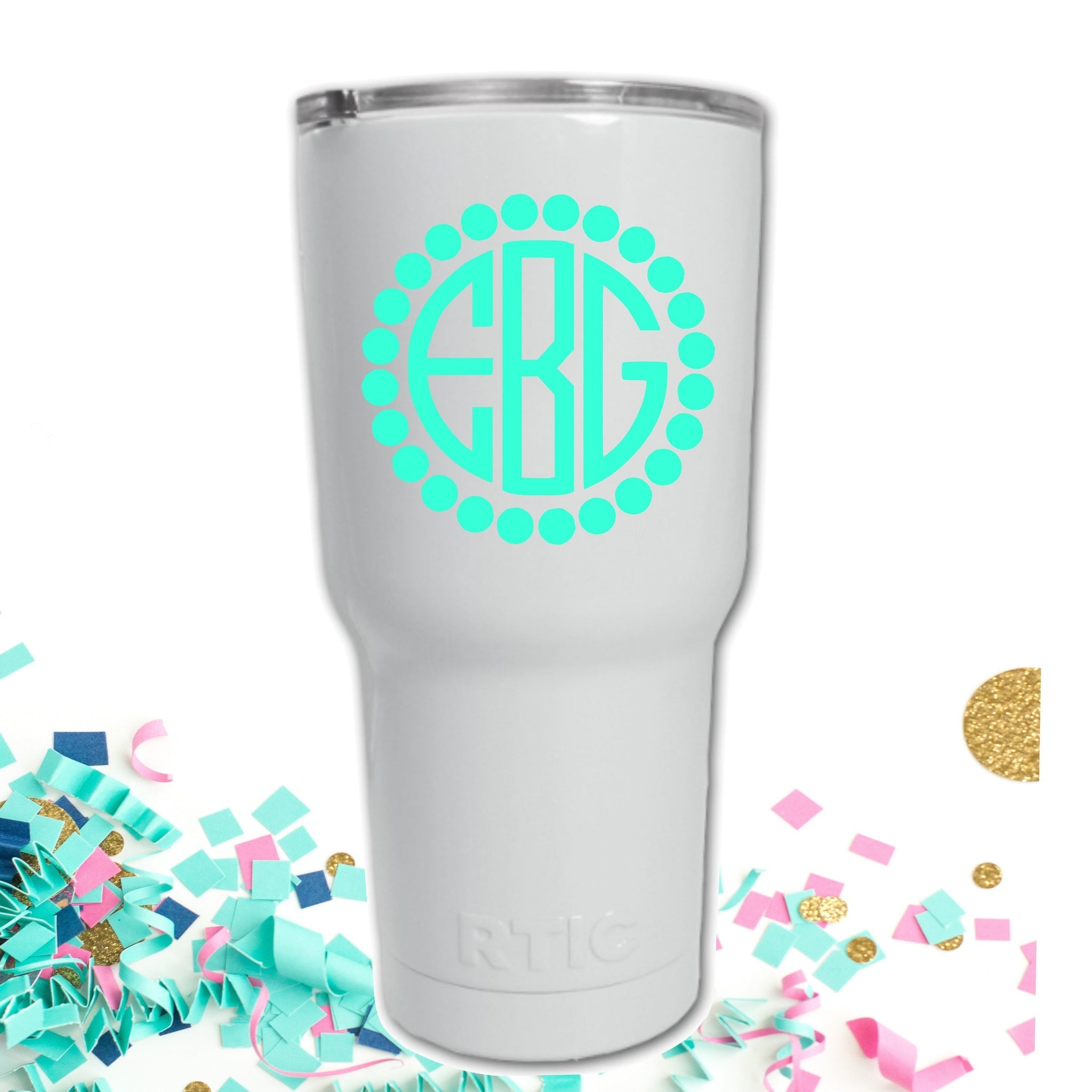 Preppy Monogram Decal for Tumblers or S'well style bottle