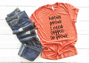 Hocus Pocus Shirt, Orange Halloween shirt