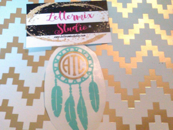 Boho Tribal Feather Decal-Lettermix Studio