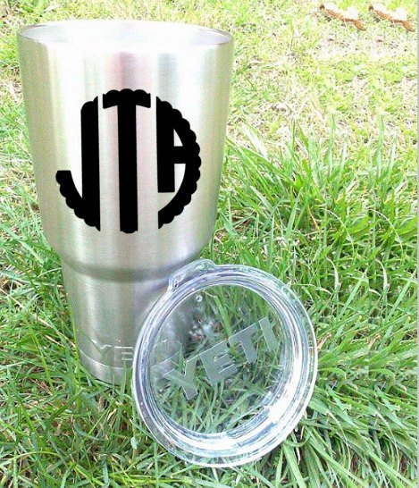 Scallop Monogram Vinyl Decal, Preppy Monogram-Lettermix Studio