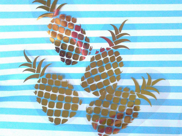 Set of Iron on Pineapple monograms-Lettermix Studio