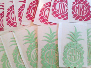 Pineapple Pocket Monogram-Lettermix Studio