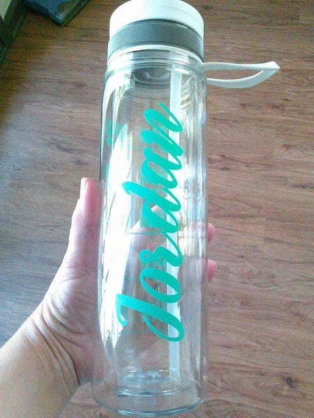 Personalized Vinyl Decal, Water Bottle Name Sticker