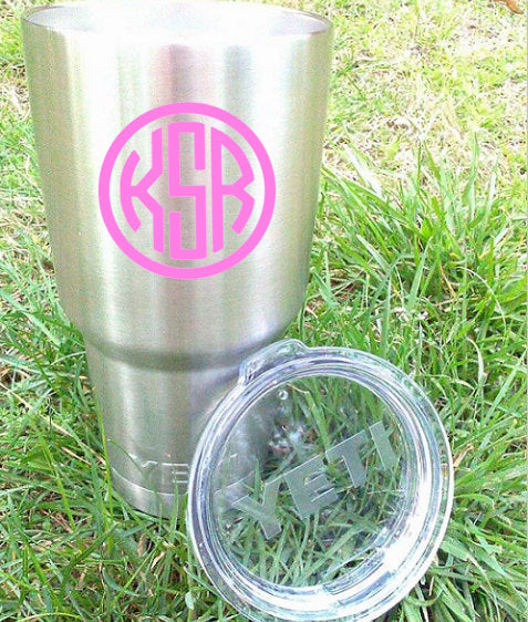 Preppy Monogram Decal-Sticker for Cup-Sorority Gift-Preppy Decal-Gift for Her