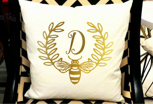 Monogram Pillow Sham/Cover-Lettermix Studio