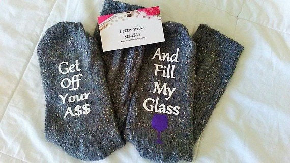 Personalized funny Socks, gifts for women-Lettermix Studio
