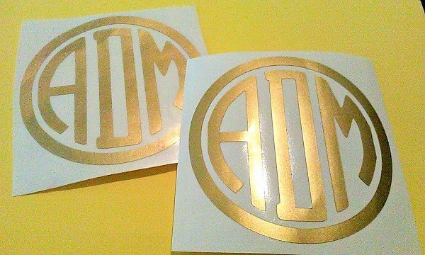 Monogram Decal, Planner Sticker
