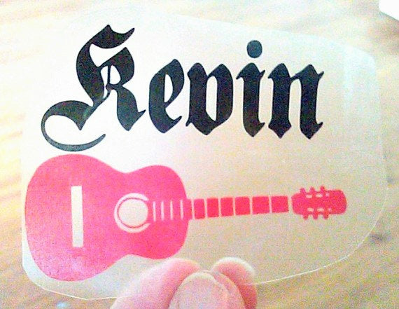 Custom Guitar decal for cup, Best man gift-Lettermix Studio