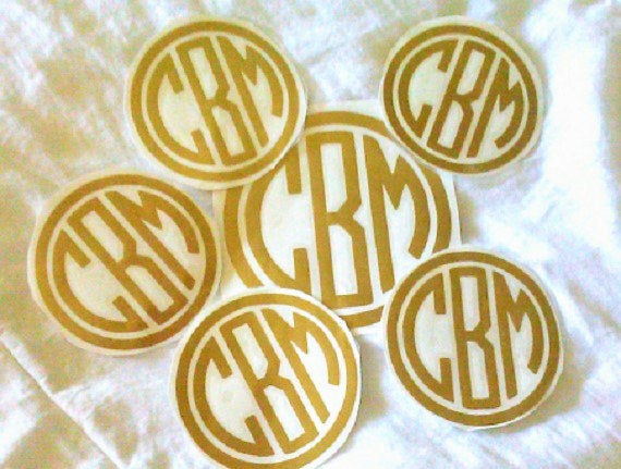 Preppy monogram, Vinyl Decal set