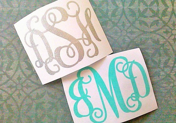 Monogram Decal, Vinyl Decal for Tumbler