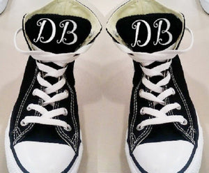 Iron on Monograms for Canvas Sneakers, DIY Tennis Shoe Monograms-Lettermix Studio