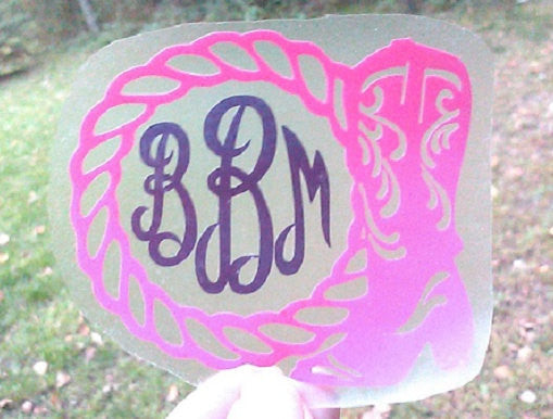 Cowgirl Boot Decal-Lettermix Studio