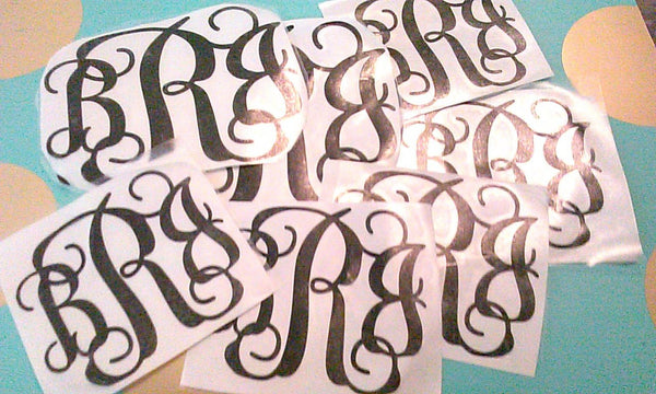 Monogram Vinyl Decals-Lettermix Studio