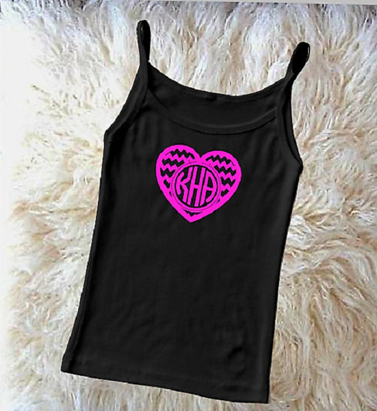 Valentine Heart monogram iron on-Lettermix Studio