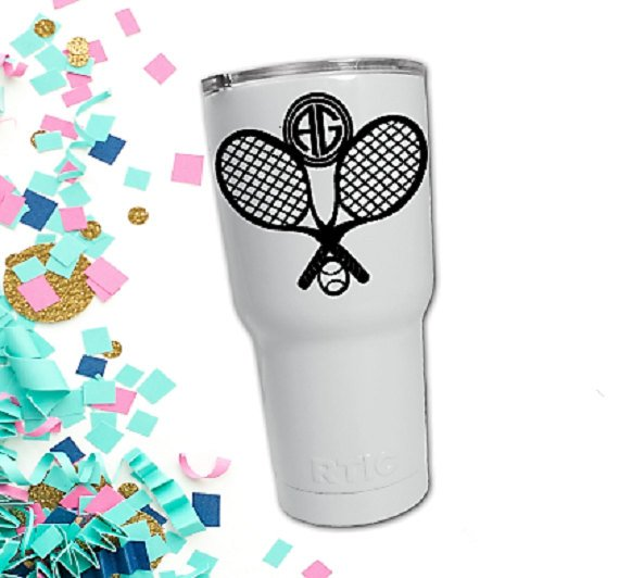 Doubles Tennis Monogram Gift for Coach