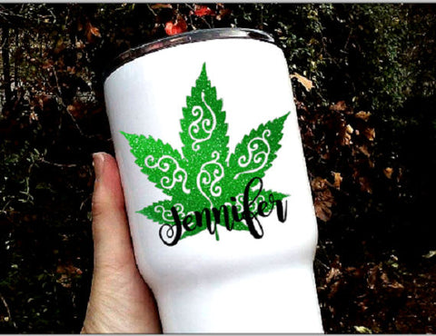 Marijuana leaf decal, Pot leaf sticker-Lettermix Studio