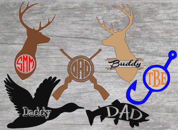Deer Head Name Decal, Hunting decals-Lettermix Studio