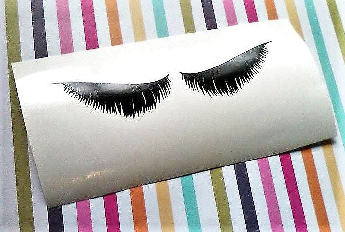 Feathered Eyelashes decal for mugs