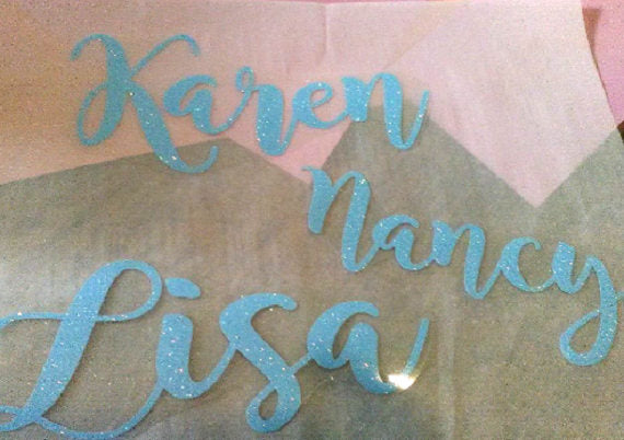 Iron on Name, Glitter name Applique-Lettermix Studio