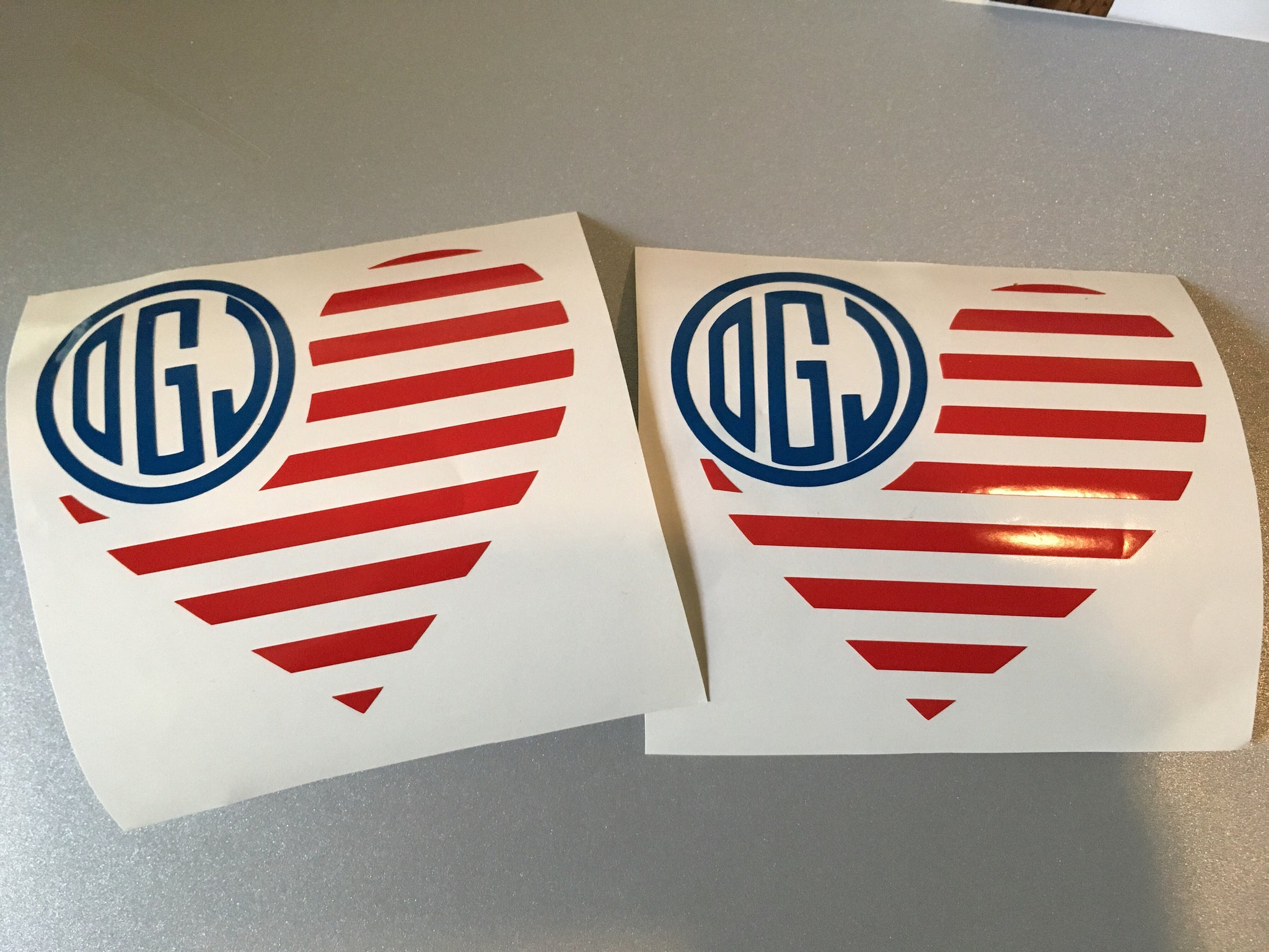 Flag Monogram Decal, Patriotic Decal-Lettermix Studio