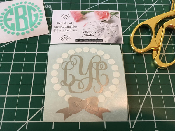 Bows and Pearls Sorority Sister gift
