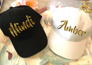 Personalized Hats, Custom Bachelorette Ball Caps-Lettermix Studio