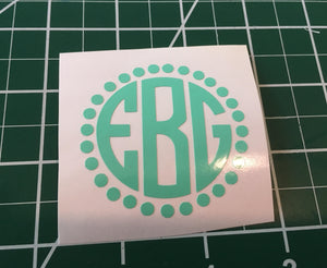 Preppy Monogram Decal for S'well style bottle, Back to school