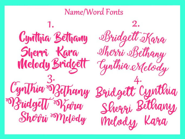 Palm Tree name decal, Palm Tree monogram-Lettermix Studio