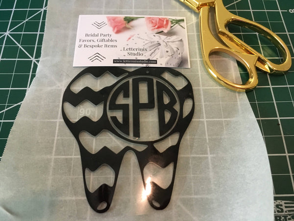 Tooth Monogram Pocket Iron On-Dental Hygienist Gift-Tooth Iron on for scrubs-coworker office gifts-DIY Iron Vinyl for shirts-Lettermix Studio