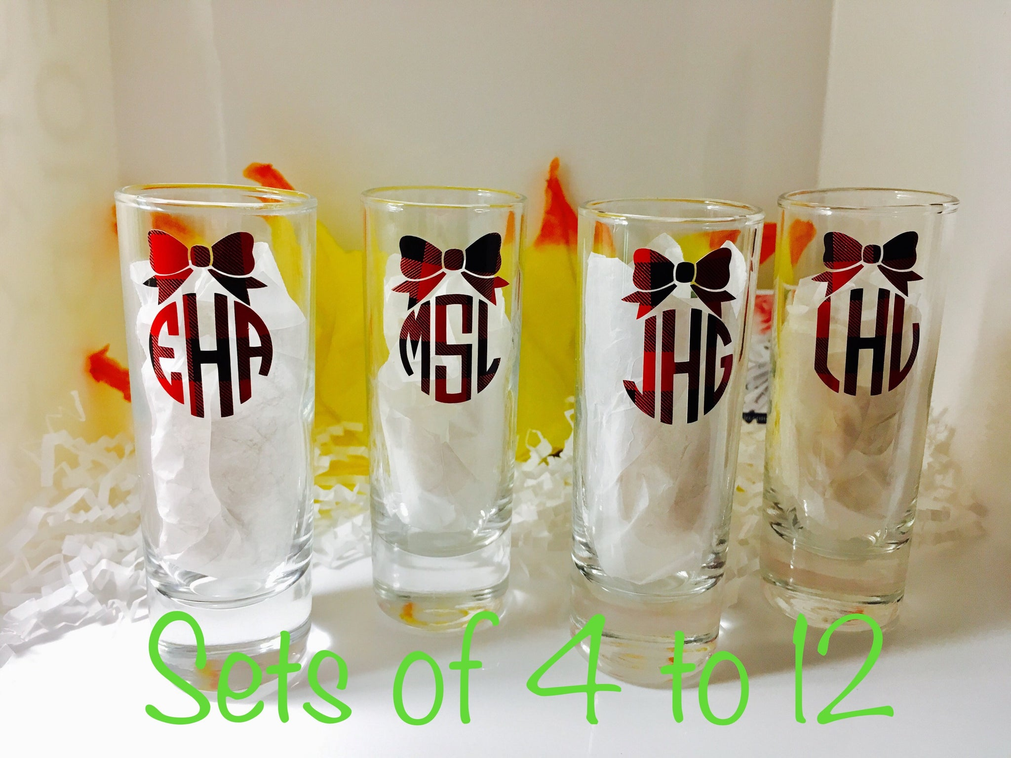 Shot Glass Sets, Gifts for Bridal party-Lettermix Studio