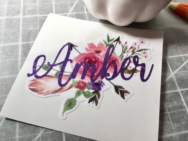 Boho Floral Decal, Tribal Arrow Decal-Lettermix Studio