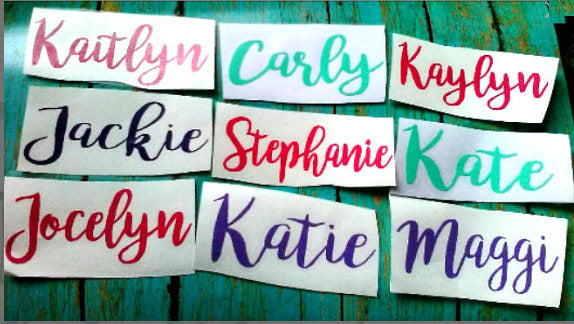 Custom Vinyl Name Decal, Labels for School