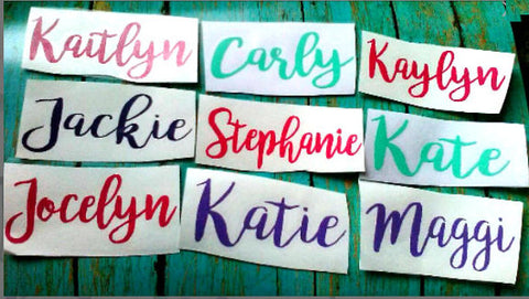 Custom Vinyl Decal, Name Decal-Lettermix Studio