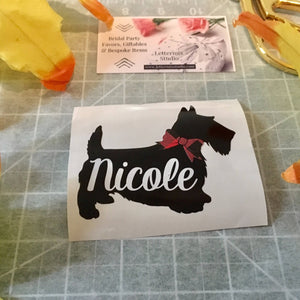 Vinyl decal, Scotty Dog decal-Lettermix Studio