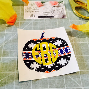 Aztec pattern Pumpkin, Halloween decoration-Lettermix Studio