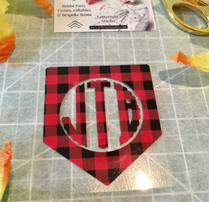 Shirt Monogram, Buffalo Check Monogram-Lettermix Studio