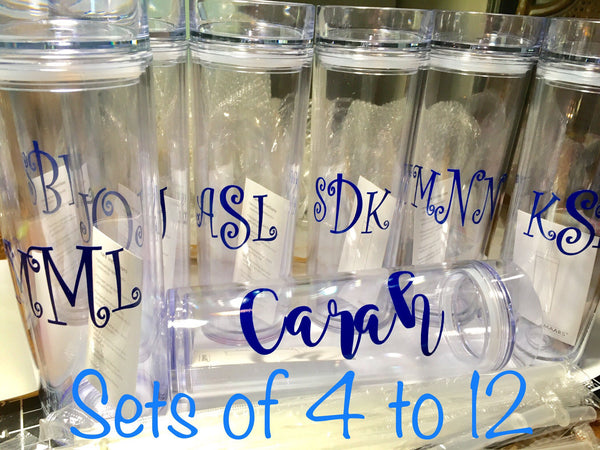 Bridesmaid Tumblers, Set of 4-Lettermix Studio