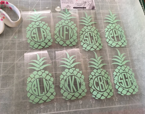 Monogram Pineapple Iron on, Gift Set-Lettermix Studio