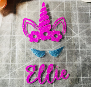 Unicorn crown Iron on, shirt DIY-Lettermix Studio