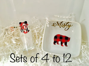Shot glass and Ring dish sets, Sets of 4-12-Lettermix Studio