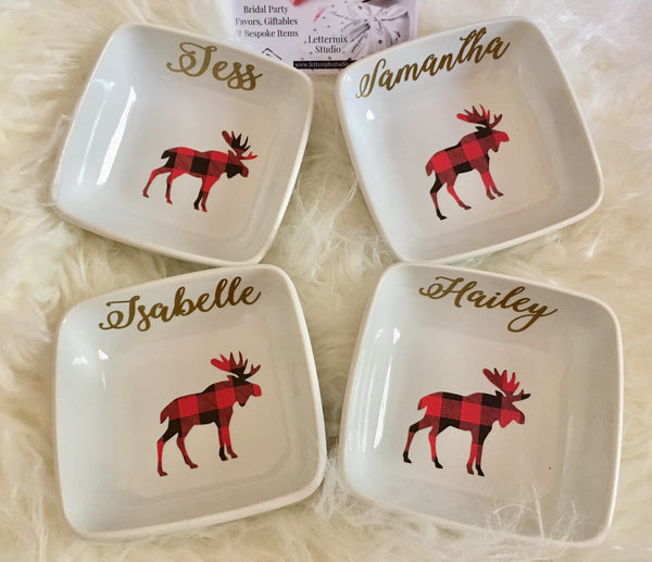 Ring dish sets, Gifts for Bridal party-Lettermix Studio
