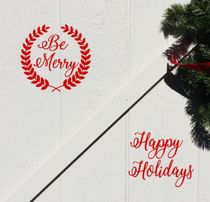 Seasonal holiday door decor