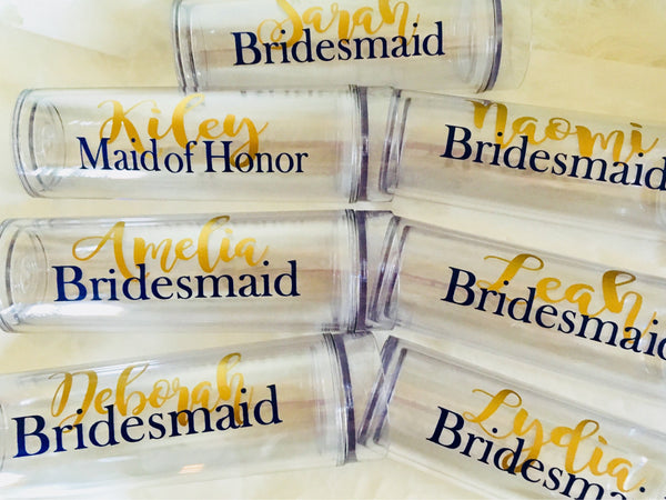 Bridesmaid Tumblers, Sets of Tumblers-Lettermix Studio